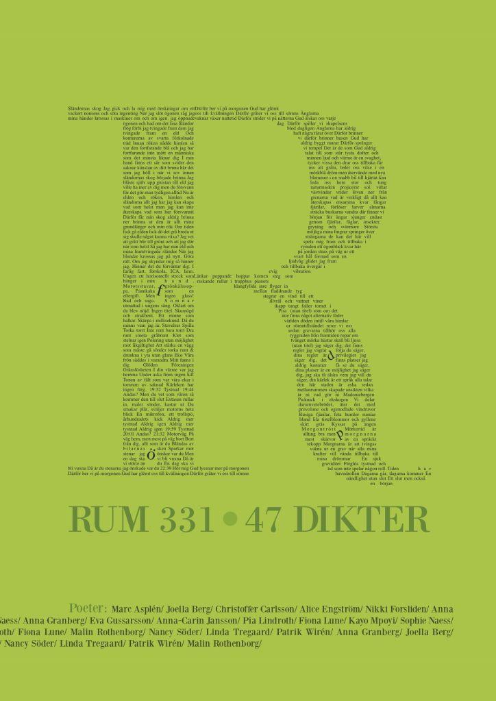 Omslag till boken Rum 331 : 47 dikter.